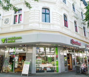 mobilcom + Bäckerei Sponheuer, Bahnhofstraße 45, <br>44623 Herne